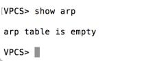 VPCS Empty ARP
